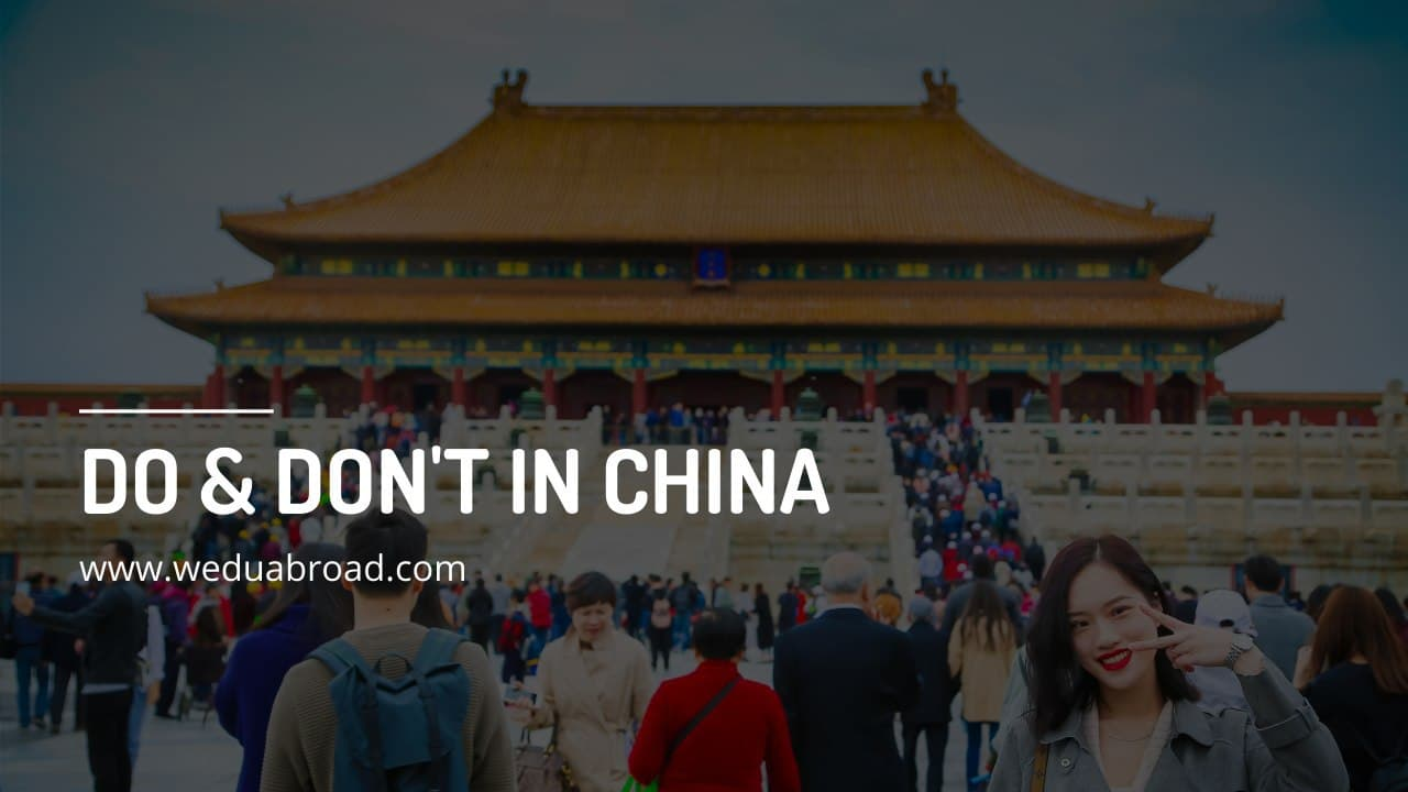 10 Do & Don't While Studying and Living in China