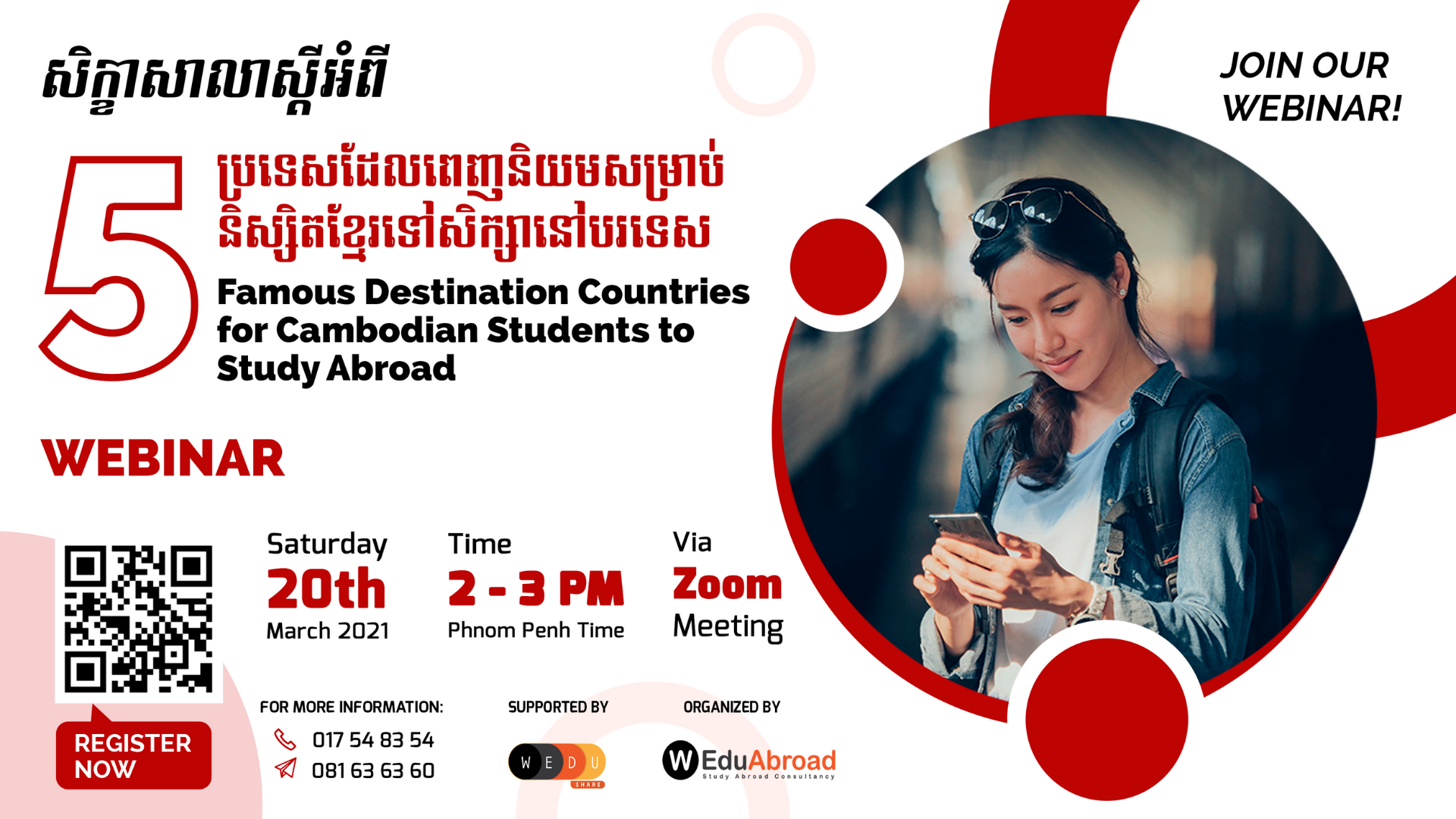 5 Famous Destination Countries for Cambodian Students to Study Abroad Webinar