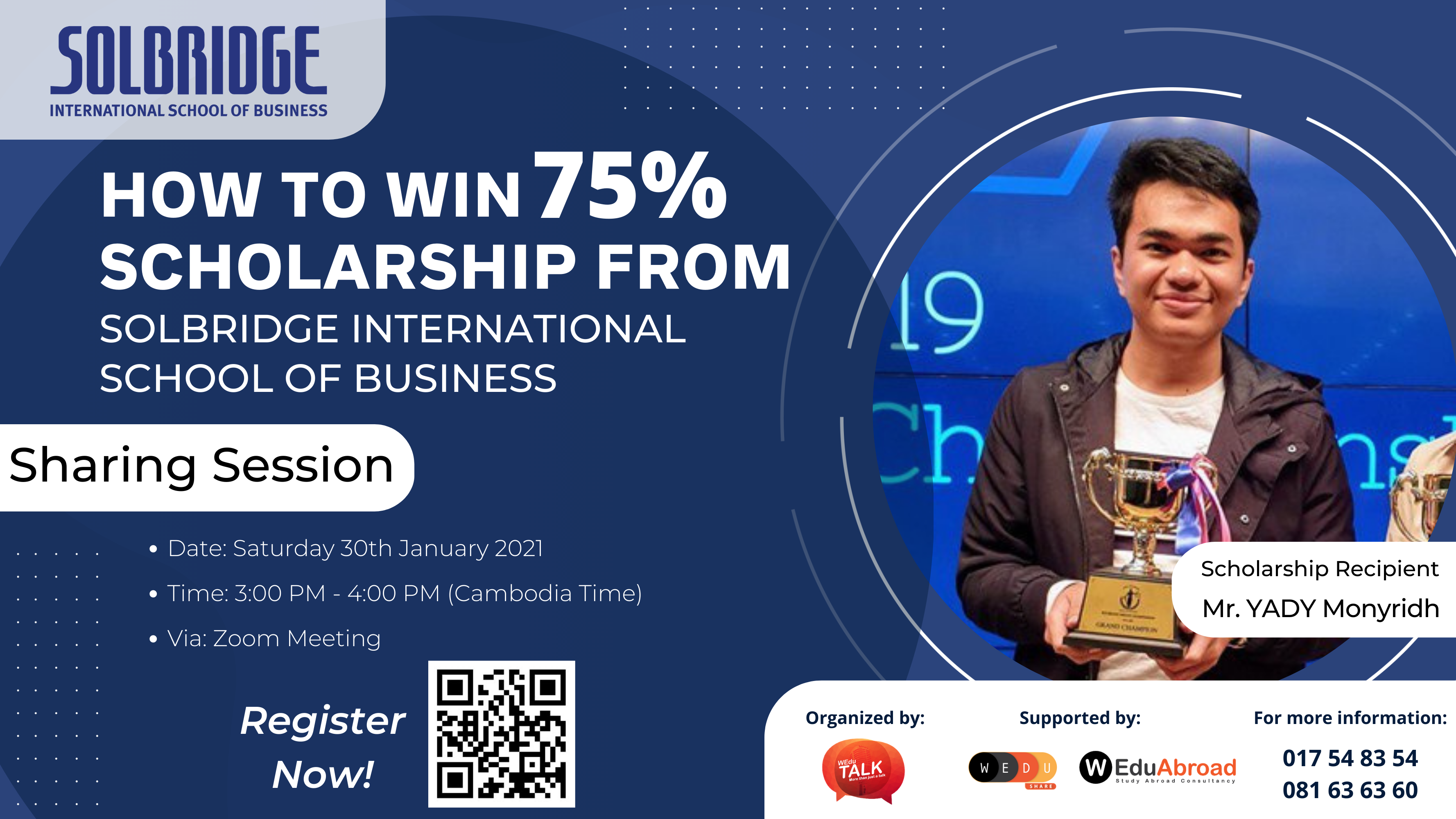 How to Win 75% Scholarship from SolBridge International School of Business in South Korea Sharing Session