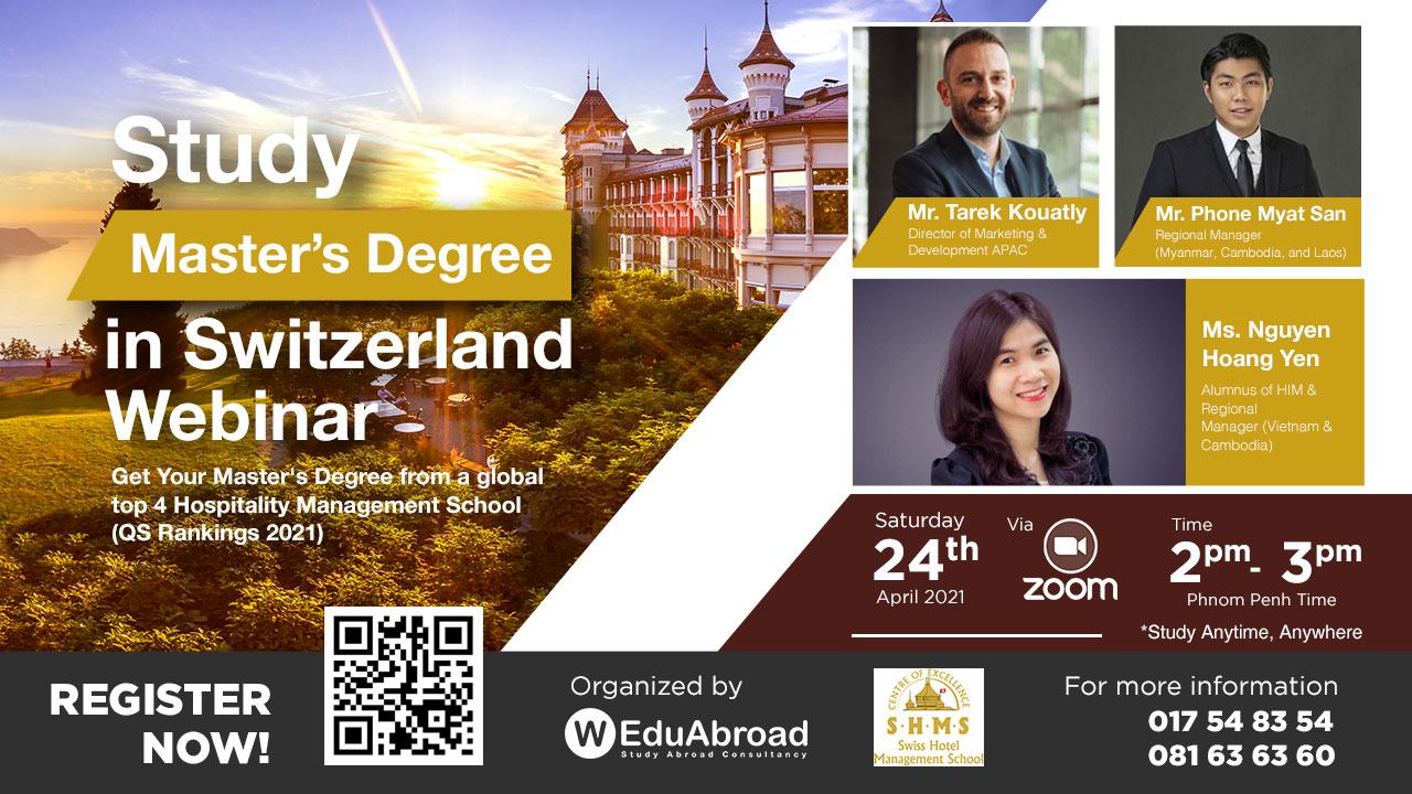 Study Master's Degree in Switzerland Webinar