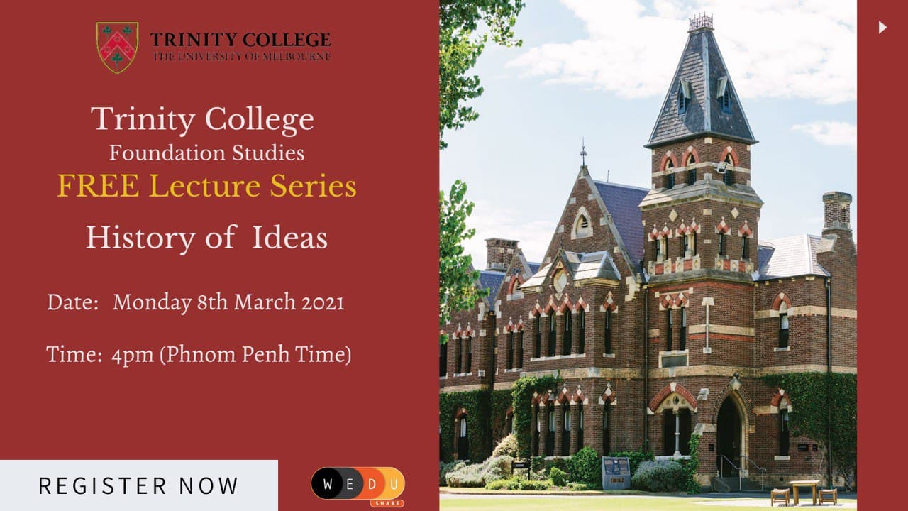 Trinity College Foundation Studies FREE Lecture Series
