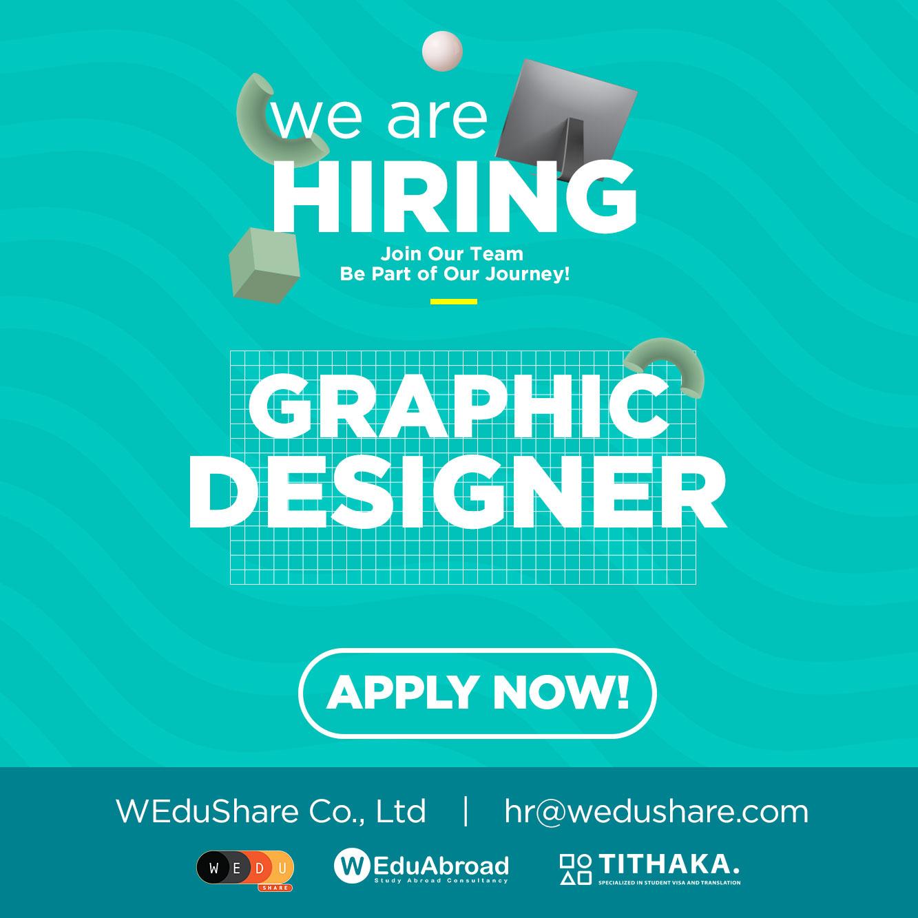 We are hiring Graphic Designer
