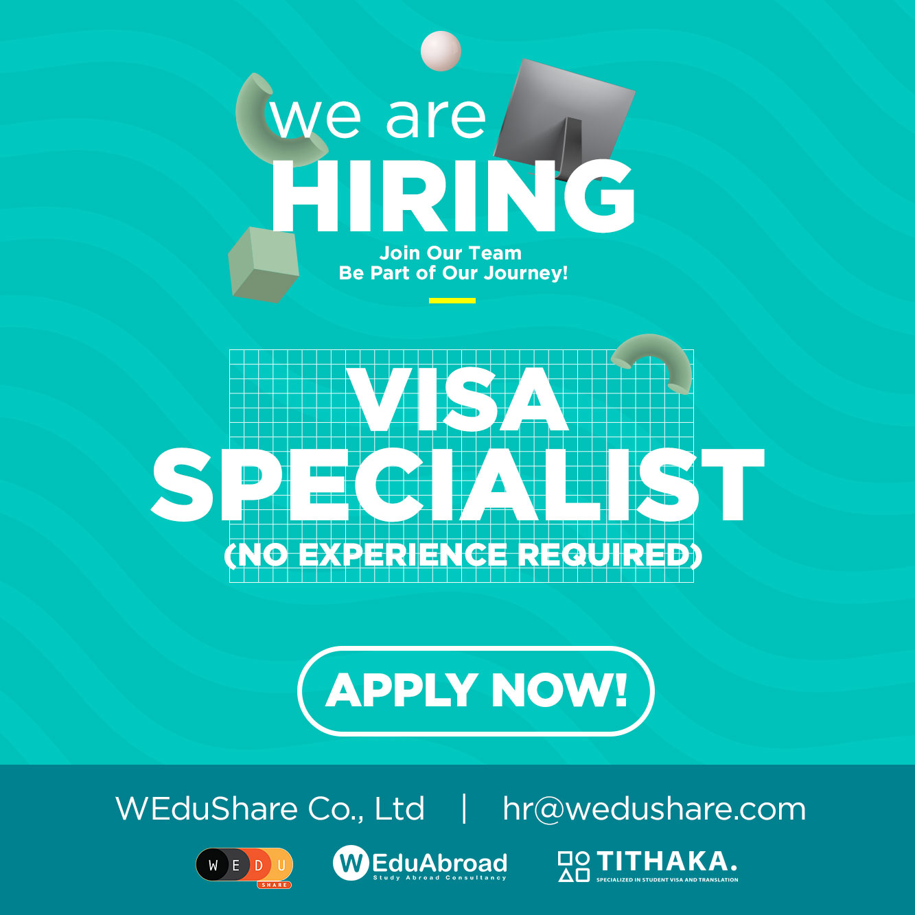 We are hiring Visa Specialist