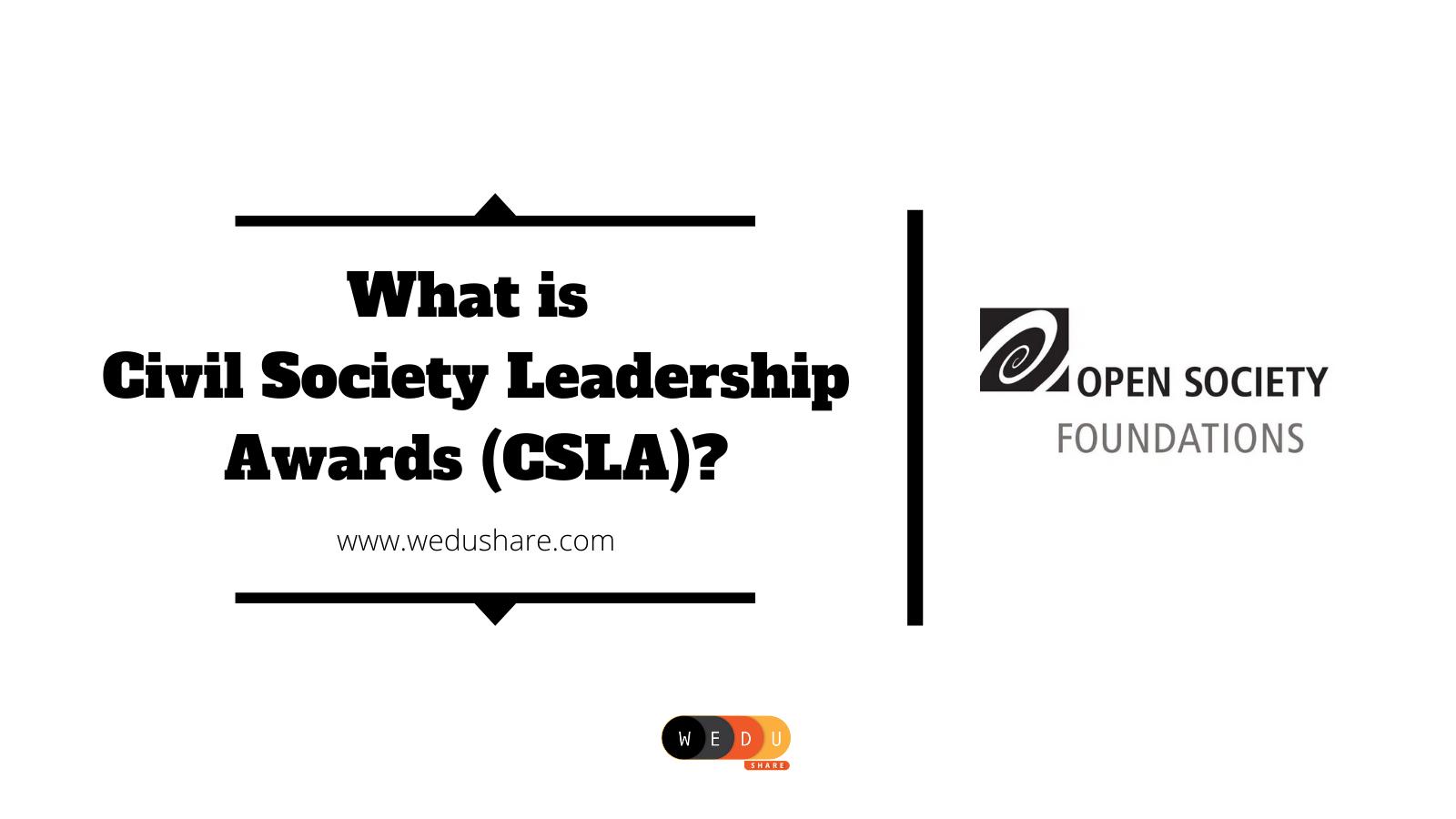 What is Civil Society Leadership Awards (CSLA)?