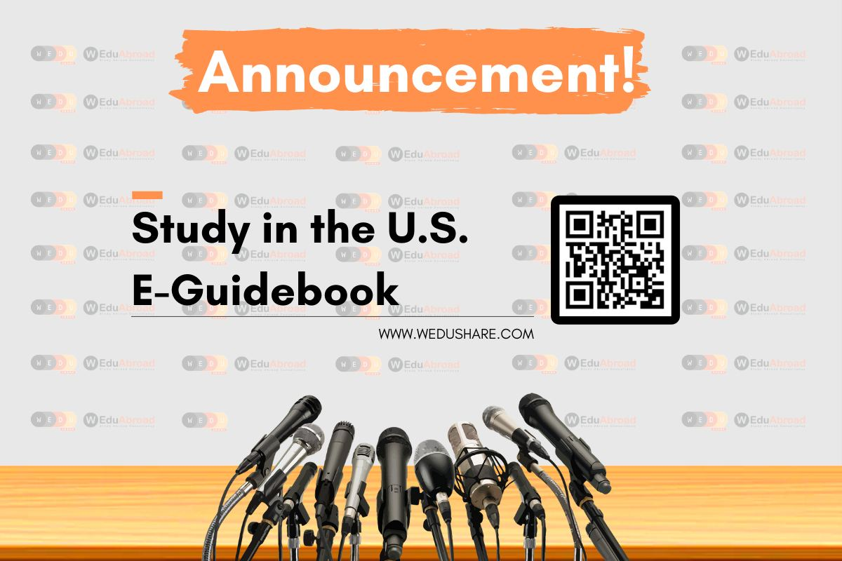 Announcement! Study in the United States E-Guidebook is coming!