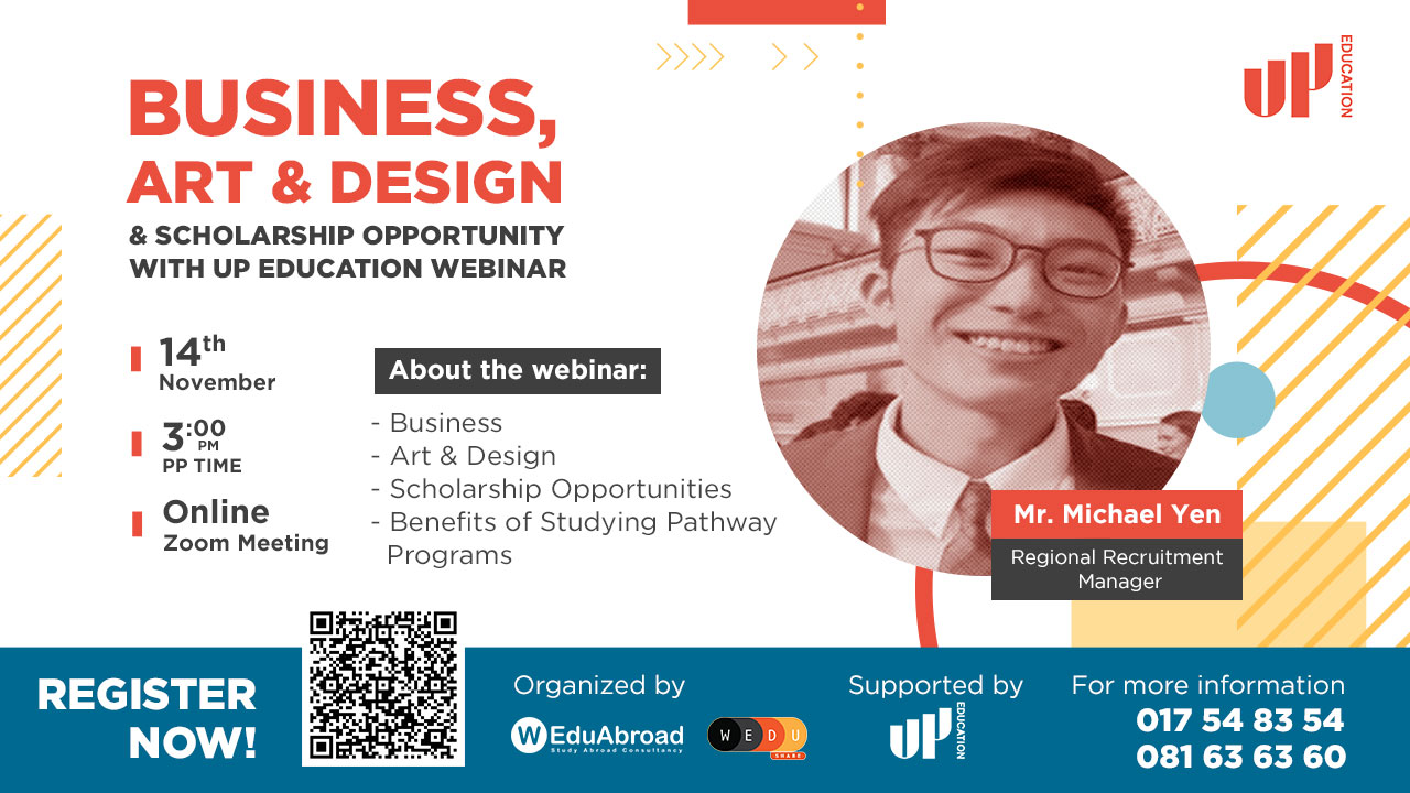 Business, Art, Design & Scholarship Opportunity with UP Education Webinar
