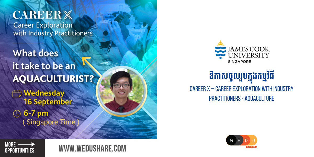 Career X – Career Exploration with industry practitioners – Aquaculture