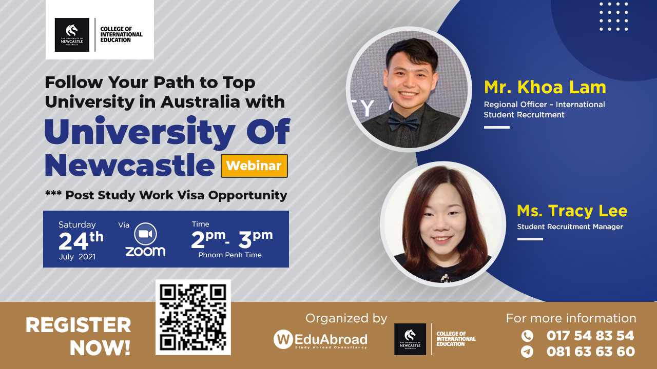 Follow Your Path to Top University in Australia with University of Newcastle Webinar