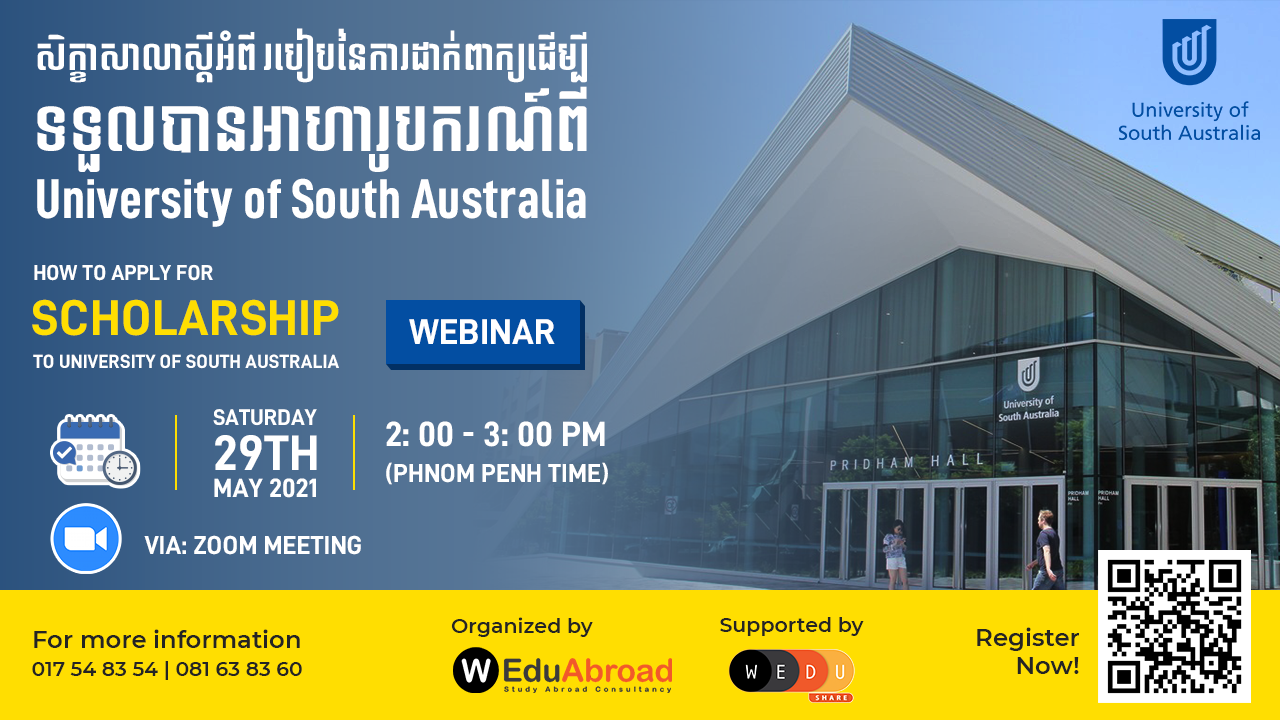 How to Apply for Scholarship to University of South Australia Webinar
