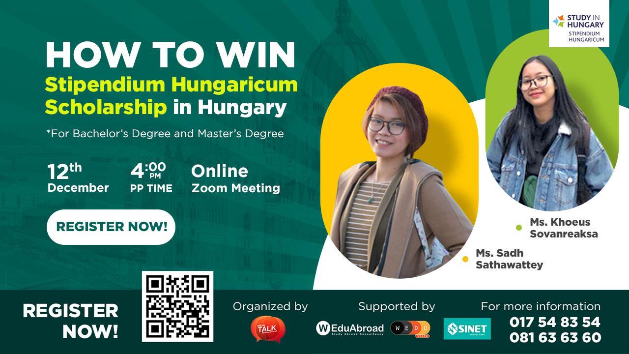 How To Win Stipendium Hungaricum Scholarship in Hungary Webinar