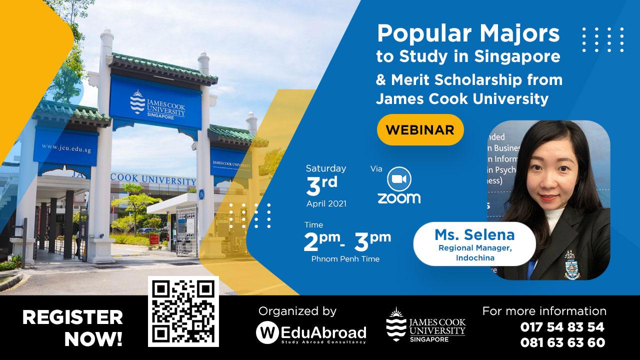 Popular Majors to Study in Singapore & Merit Scholarship from James Cook University Webinar