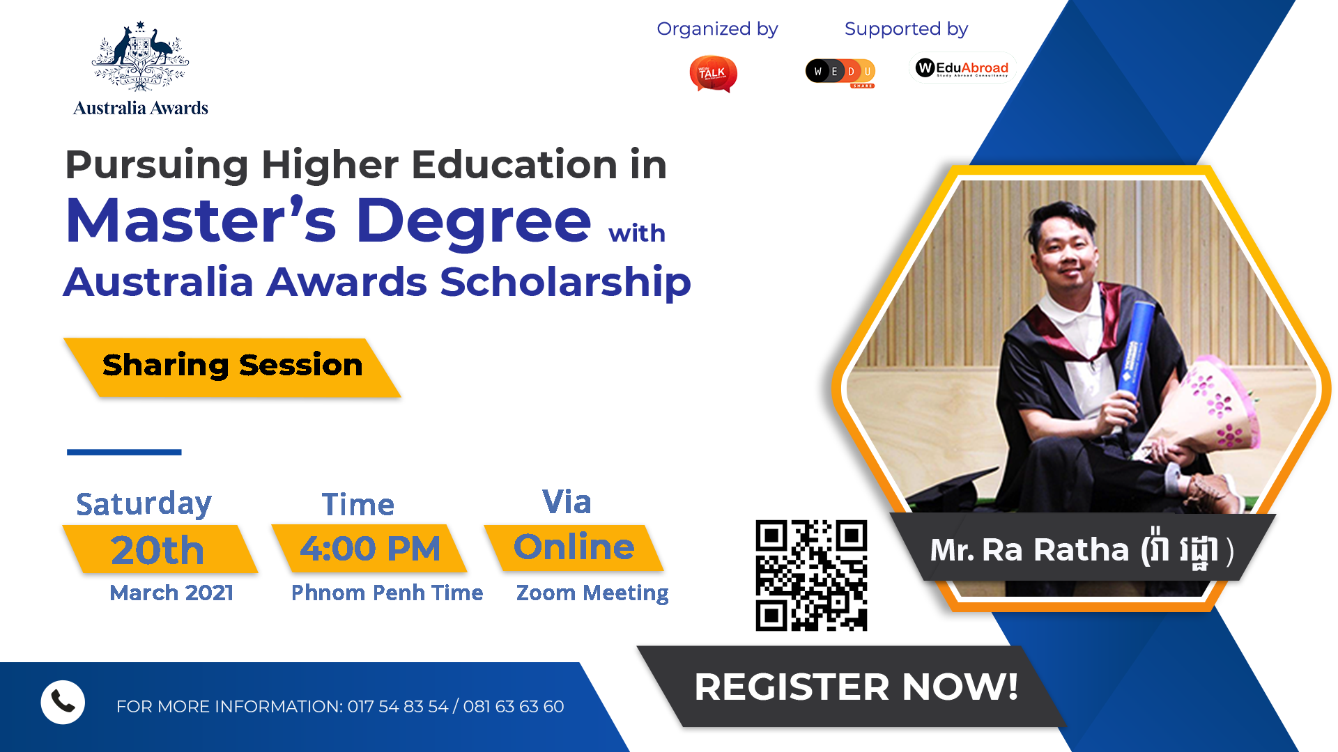 Pursuing Higher Education in Master's Degree with Australia Awards Scholarship Sharing Session