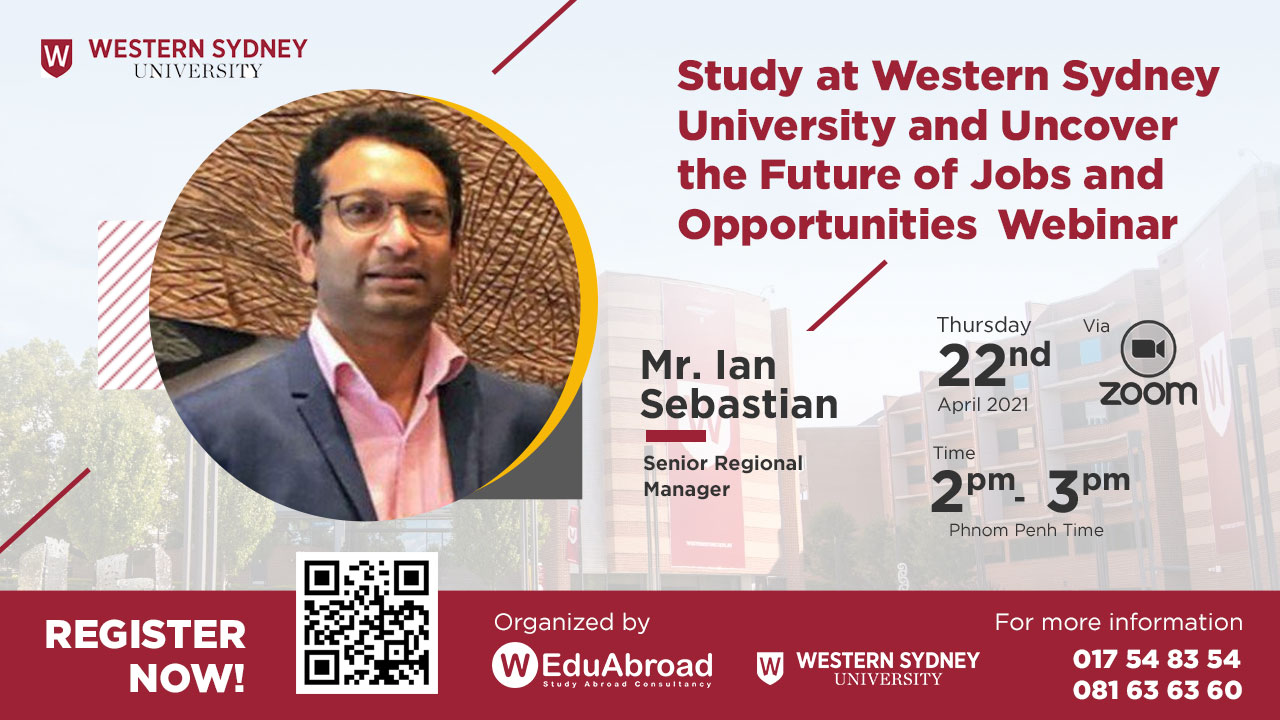 Study at Western Sydney University and Uncover the Future of Jobs and Opportunities Webinar