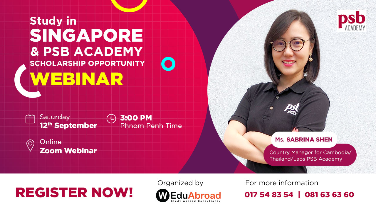 Study in Singapore and PSB Academy Scholarship Opportunity Webinar