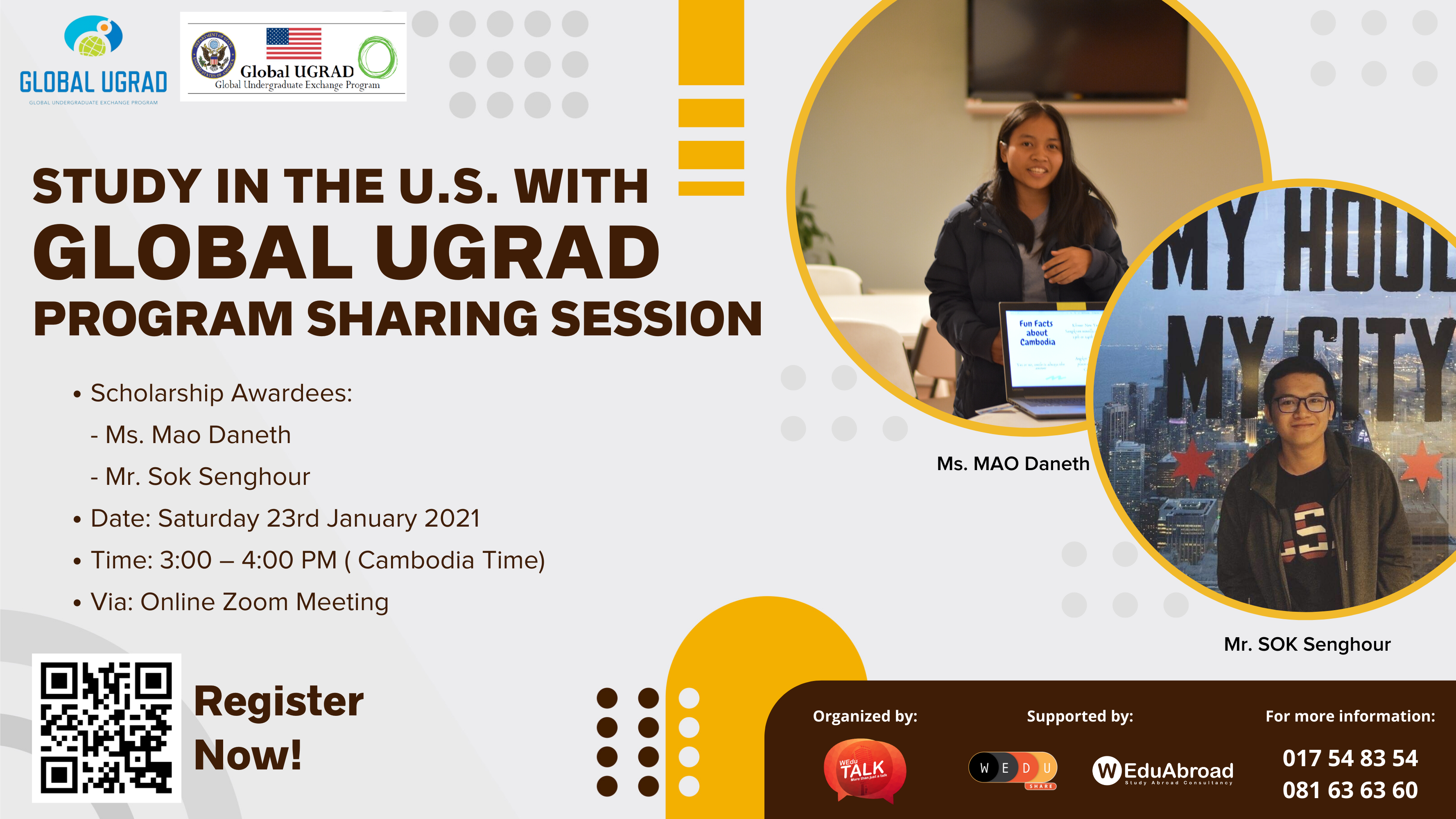 Study in the U.S. with Global UGRAD Program Sharing Session