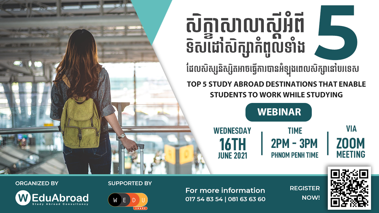 Top 5 Study Abroad Destinations That Enable Students to Work While Studying Webinar