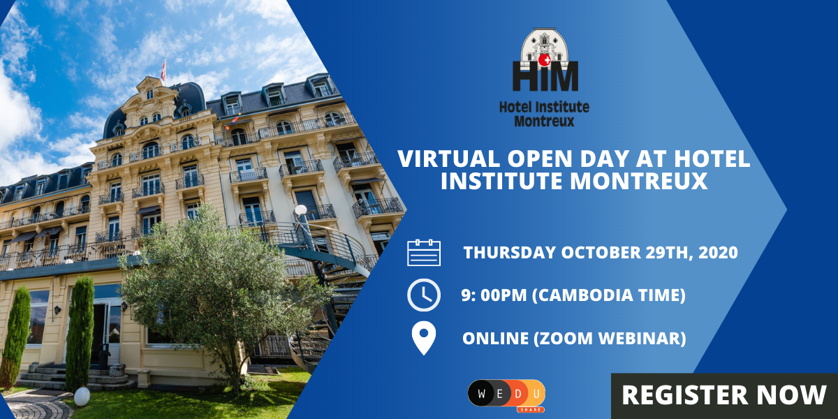 Virtual Open Day @ Hotel Institute Montreux