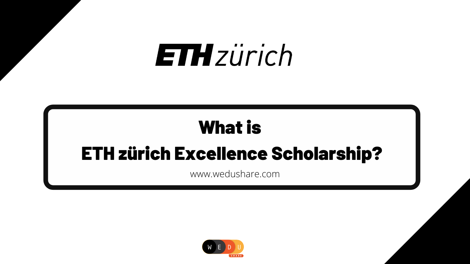 What is  ETH Zurich Excellence Scholarship?