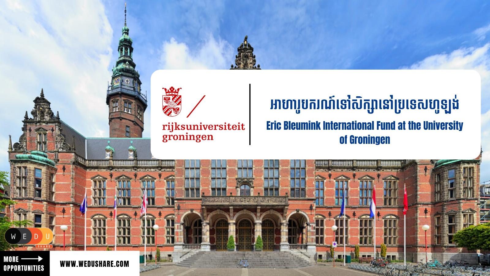 Eric Bleumink International Fund at the University of Groningen
