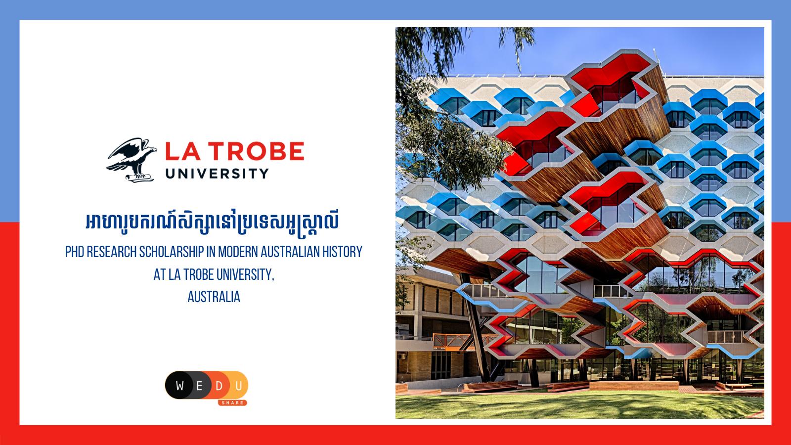 PhD Research Scholarship in Modern Australian History at La Trobe University, Australia